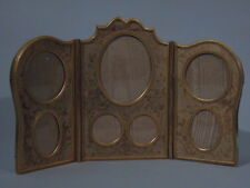 Belle Epoque Frame - Picture Photo - Triptych - French Gilt Bronze Dore