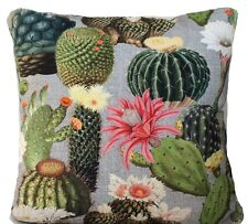 Cactus Cushion Cover Green Decorative Throw Pillow Case Floral Printed Fabric