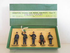 GB DINKY 1 001 STATION STAFF FIGURES X5 MIB RARE ISSUE RARE VERSION SO NICE L@@K