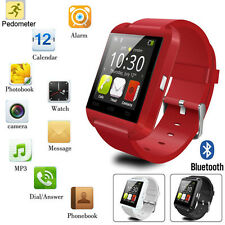 Red Bluetooth Smart Wrist Watch Phone Mate For Android&IOS LG Sony