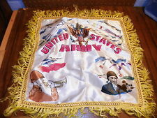 Vintage Silk Pillow Cover - WWII U.S. ARMY