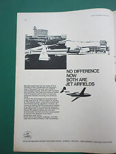4/1966 PUB FOKKER AIRCRAFT HOLLAND F28 FELLOWSHIP TWIN JET AIRLINER ORIGINAL AD