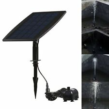 Garden Pond Solar Power Panel Water Feature Pool Pump Fountain Kit 12V 200L/H