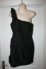Ladies Black Oasis Dress Size 14 Off the shoulder Party Frock