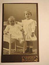 Rheineck - St. Gallen - 1911 - 2 kleine Kinder -.Stuhl - Portrait / CDV