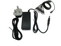12V 5A/4A/3A TFT LCD LED TV Monitor Power Supply Charger Adapter + UK Lead Cable