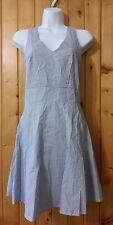 Modcloth Lemieux Blue White Seersucker Sun Dress Size S Penchant for Picnics