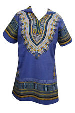 UNISEX AFRICAN SWAG DASHIKI TUNIC TOP PURPLE HOODIE BOHO HIPPIE TUNIC BLOUSE L