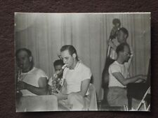 BAND MEMBERS PLAYING SAXAPHONE, STAND UP BASS & PIANO Vtg 1950's PHOTO #2