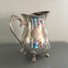 Silverplate Footed Water Pitcher With Ice Catcher Lip