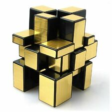 Shengshou Smooth Mirror 3x3x3 Golden Cube Speed Twist Magic Bump Puzzle Kid Gift
