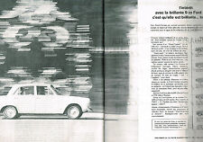 PUBLICITE  1964   FORD  CORTINA 9 cv   ( 2 pages)
