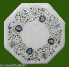 "12"" Coffee Table Stone Inlay Pietra dura​ Art Craft Work Home Decor for Gifts"