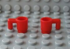 NEW Lego Minifig Red DRINKING CUPS Mugs Food Kitchen MINIFIGURE  Dishes