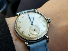 Stainless steel 1940s IWC Calibre 83 Custom exhibition caseback teardrop lugs