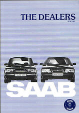 Saab Dealer List 1987 UK Market Foldout Brochure