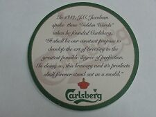 BEER COASTER ~ ^ ~ CARLSBERG Brewery ** Add'l Coasters Only $0.25 S&H Worldwide