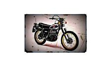 1979 xt500 Bike Motorcycle A4 Retro Metal Sign Aluminium