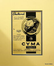 Vintage Advertisement mounted ready to frame Mens Watch Cyma Triplex 1948