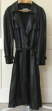 CLAUDE MONTANA BLACK  LAMB SKIN LEATHER Trench coat size 48 mens Matrix style