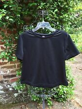 Athletic Works- BLACK POLYKNIT TENNIS SHIRT TOP- Size Large