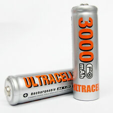8 Ni-MH AA Size 3000mAh 1.2V rechargeable battery Silver UltraCell