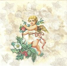 2 Serviettes en papier Ange Angelot Decoupage Paper Napkins Angel Fashion