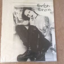 Huge Vintage Rare Marilyn Manson Heavy Metal Rock Pop Music Poster Memorabilia