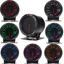 Glow Shift Black 7Color LED Water Coolant Temperature Temp Gauge Meter universal