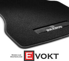 Brabus Smart ForTwo ForFour 453 Front Black / Silver Velour Floor Mats Genuine
