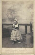 LITTLE GIRL WAITS FOR HER SHIP TO COME IN AT WOLGAST, GERMANY STUDIO - CAB CARD