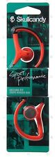SkullCandy Chops Hanger Bud Ear Hook Exercise Sports Earphones Hot Red & Black