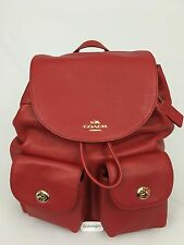 Coach F37410 Billie Backpack Red Pebbled Leather $395.