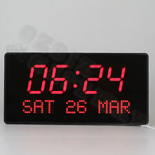 Digital LED Wall Clock  Alarm Calendar Date Table Clock