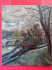 Robert MARTIN (XXe siècle) - Paris, la Seine, le pont neuf - tableau