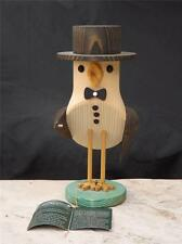 NWT Richard Glasser Wooden Bird in a Tuxedo Handcrafted  Germany