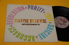 SPACEMEN 3 LP PLAYING WITH FIRE 1°ST ORIG UK 1988 EX+ TOP COLLECTOR !