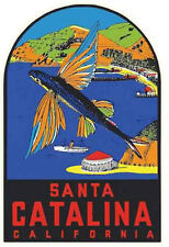 Santa Catalina Island  Vintage-Style  1950's  Travel Decal/Luggage Label/Sticker