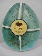 """Well Dressed Home 9.5"""" x 7.5"""" Blue Speckled Melamine 4 Snack Plates Easter NEW"""