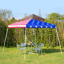 American Flag 10'x10' Party Pop-Up Tent Outdoor Patio Gazebo Canopy Shelter