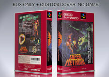SUPER METROID. JAPAN FORMAT. Box/Case. Super Nintendo. BOX + COVER. (NO GAME).