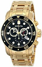 Invicta Men's Pro Diver Chronograph 200m Gold Plated Stainless Steel Watch 0072