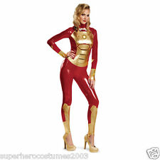 Iron Man 3 Mark 42 Adult Women Lycra Bodysuit Sassy Costume Size 4-6 New 55684