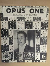 Foglio CANZONE Opus One Joe perdita 1945