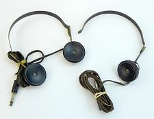 Lot of 2 WWII Acme Radio Headset Trimm Inc Bakelite Army Airforce Military Vtg