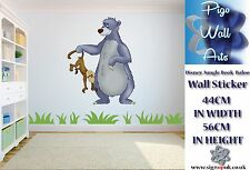 Disney Jungle Book Art wall Sticker Baloo Children's room décor large