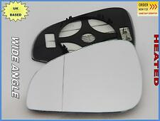 Wing Mirror Glass  PEUGEOT 407 Facelift 2008-11 Wide Angle HEATED Left S #G022