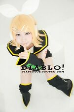 Vocaloid Kagamine Twins Sister RIN Cos Wig Short Gold  Hair Wig Fashion Wig