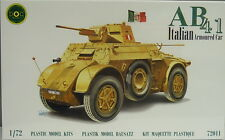 Italian Wheel panzer AB 41 ,1:72, DOC Models, Plastic kit, NEW