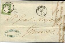 75028) Sardinien,Mi.10,Brief,Genova,signiert,Ortsbrief